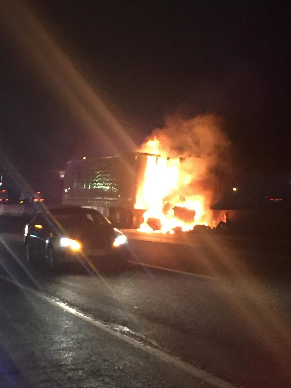 VIDEO: Tractor-Trailer Ignites into Flames After Crash on NJ