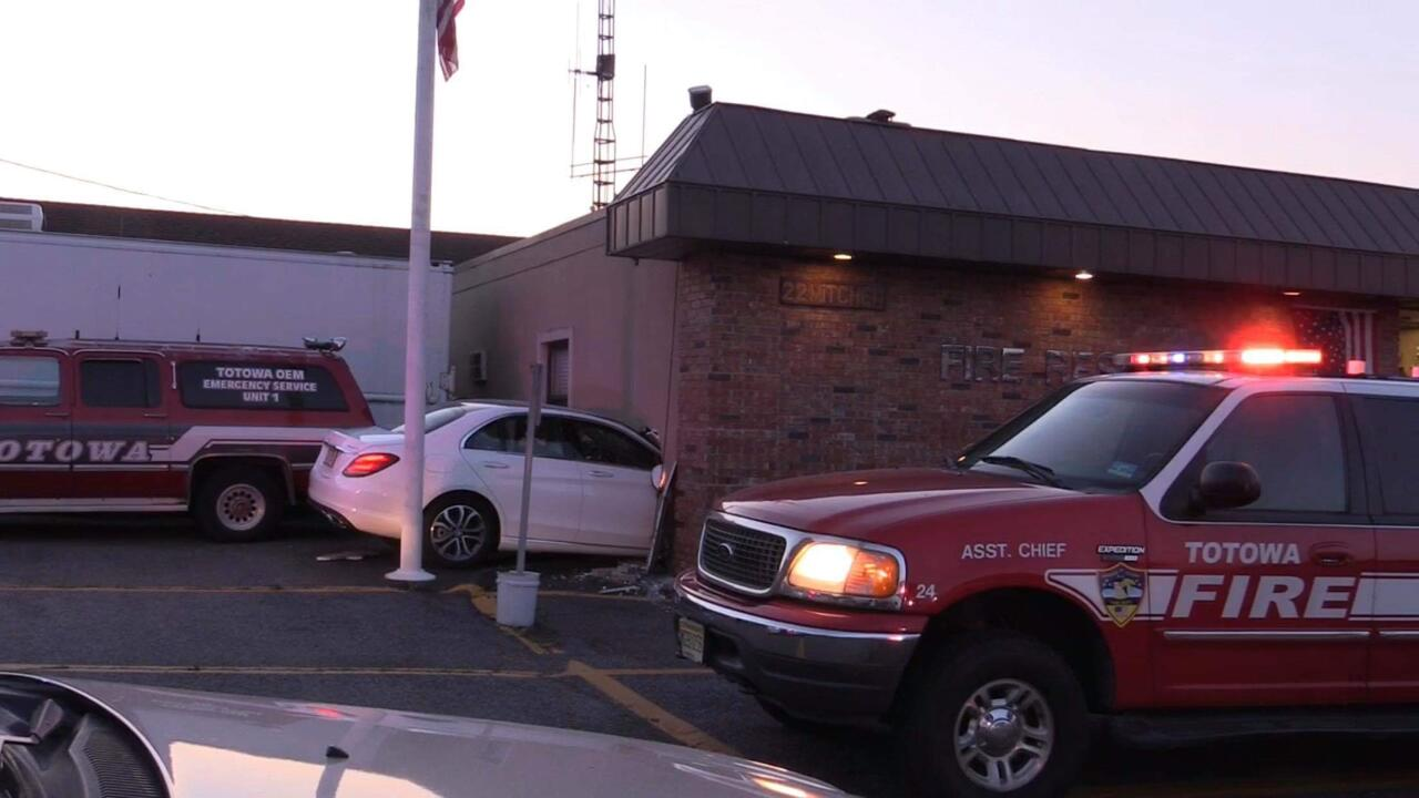 Injuries Reported After Car Crashes into Totowa Fire Headquarters
