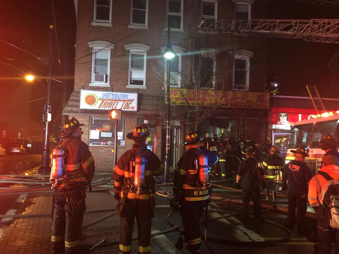 Newark Firefighters Battled A Fast Moving Fire That Tore Through Chinese Restaurant In S Ironbound Section Early Saay Morning