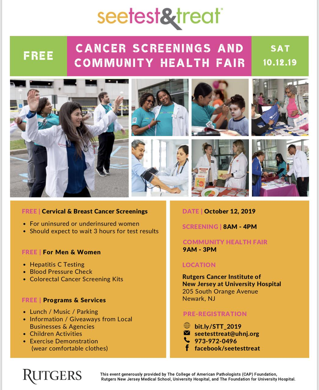SEE, TEST, TREAT: Rutgers Cancer Institute at University Hospital