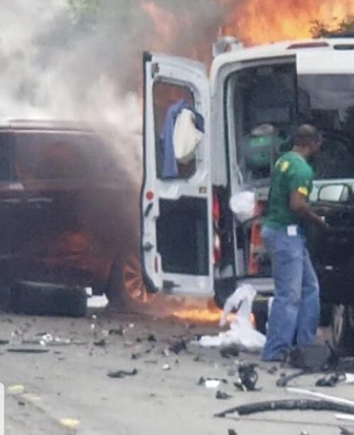 PSE&G Workers Injured After Stolen Vehicle Strikes Van in Newark
