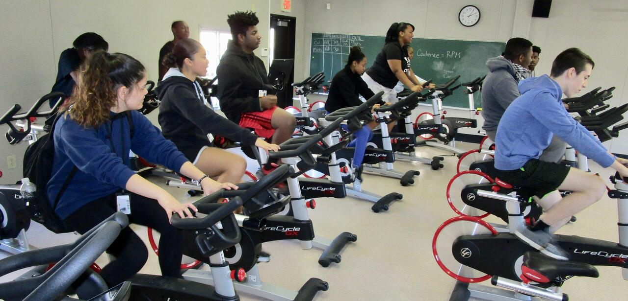 Linden high school students take a spin outside gym class routine