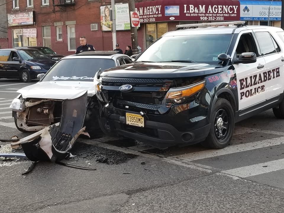 Elizabeth Police Car Involved in Crash | rlsmedia com