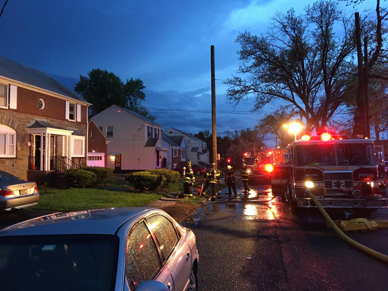 Firefighters Battle Two Alarm Fire After Lightning Strikes