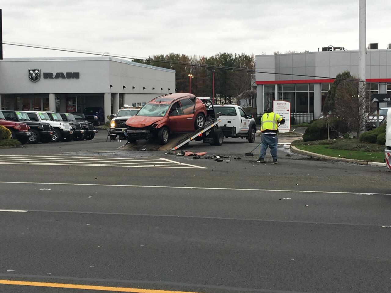 Car Crash Snarls Rush Hour Traffic on Route 22 in ...
