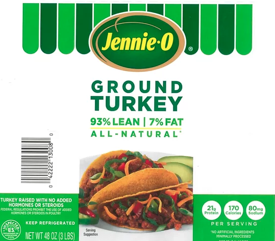 Jennie-O recalls more than 164,000 pounds of ground turkey