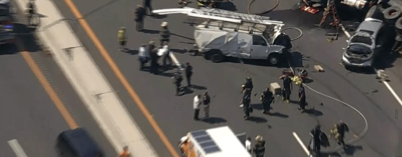 BREAKING WEST ORANGE: Dump Truck Strikes Multiple