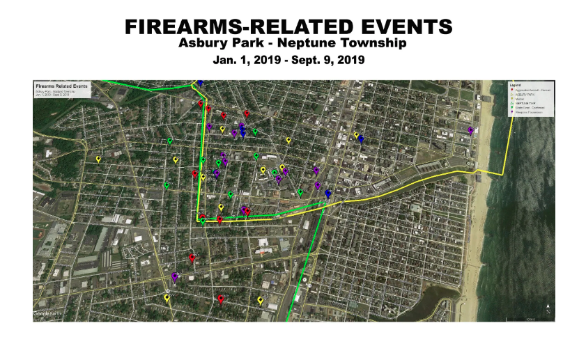 Five Arrested in Separated Gun Related Incidents in Asbury